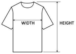 T-shirts sizes - vegan survive