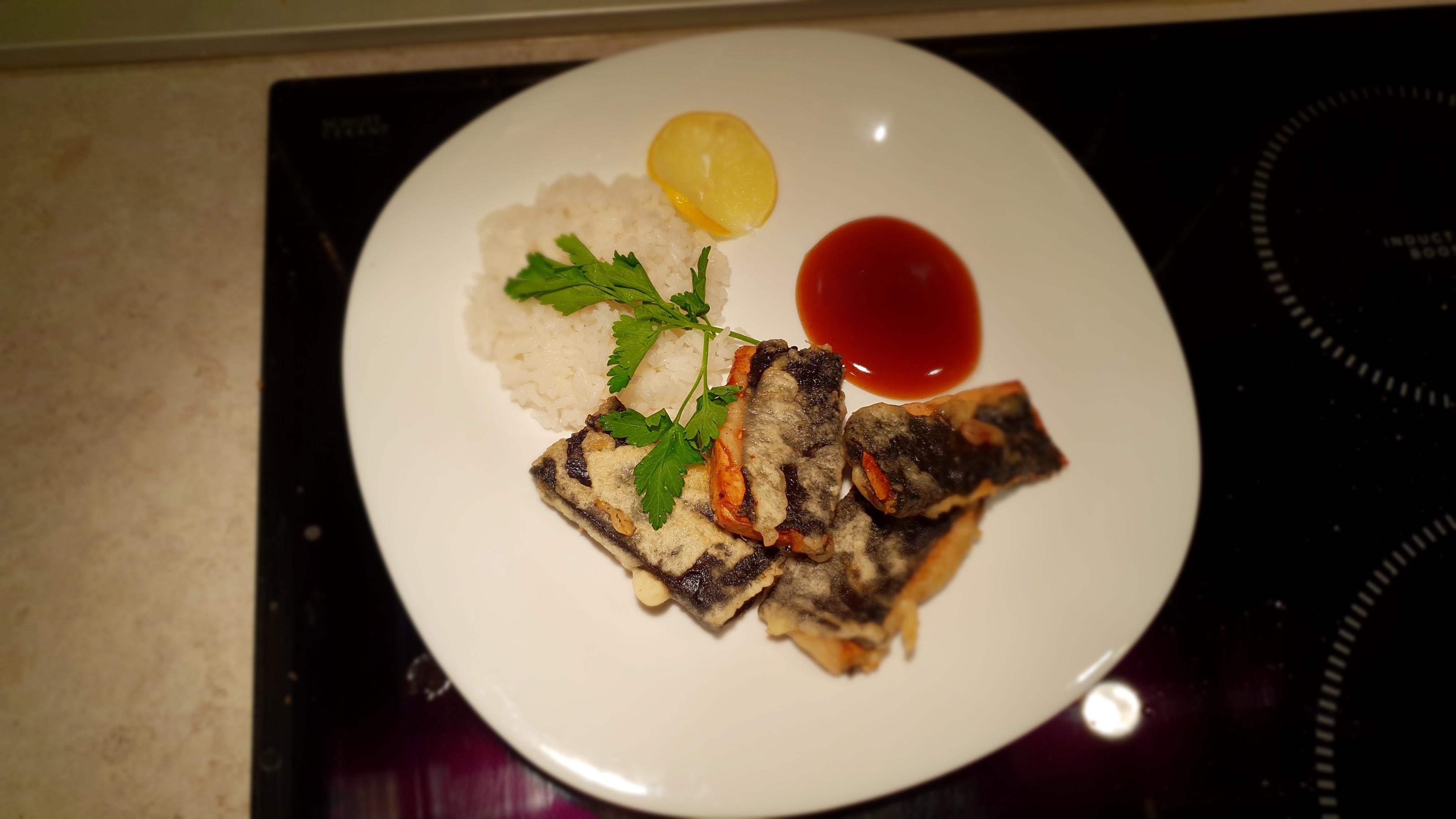 Веганская рыба из тофу и нори