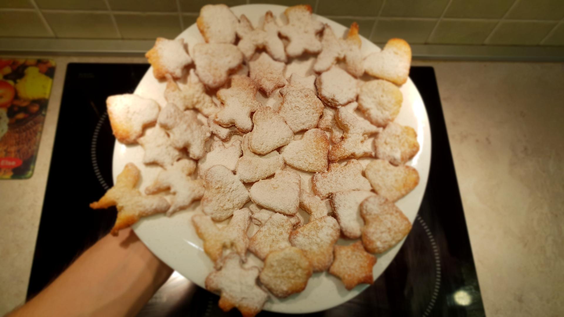 Кокосовое печенье с сахарной пудрой - веганский рецепт | нищее веган выживание